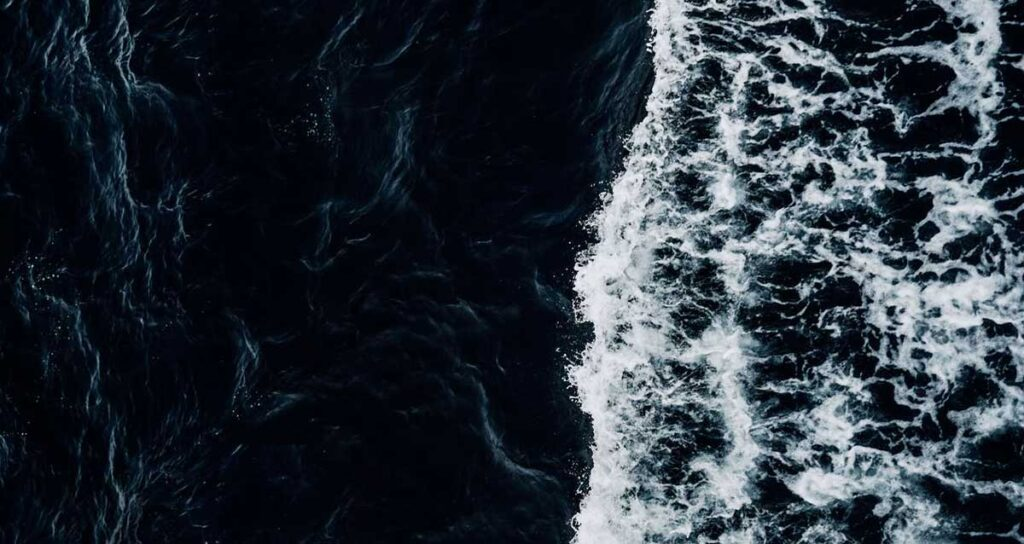 Sea waves and current.